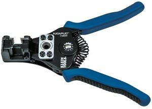 Klein Katapult Wire Cable Stripper Cutter 8 22 Awg 11063w Heavy Duty Hand Tool
