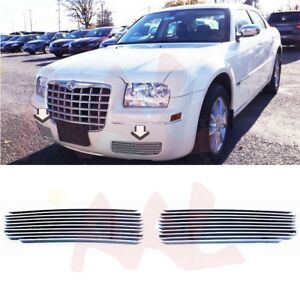Aal For 2005 10 Chrysler 300 Bumper Billet Grille Insert Cover The Fog Lights