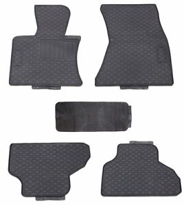 Floor Mats For 2014 2017 Bmw X5 All Weather Black Rubber Custom Fit Durable