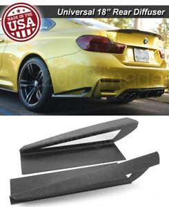 18 G3 Rear Bumper Lip Apron Splitter Diffuser Canard W Vent For Vw Porsche