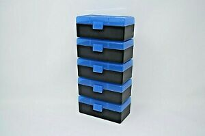 BERRY'S PLASTIC AMMO BOXES (5) BLUE 50 ROUND (35738SPL)