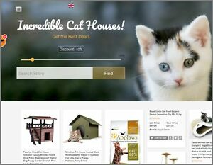 Cat Houses Website Earn 61 78 A Sale free Domain free Hosting free Traffic