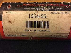 Southwest Oilfield Products Grayloy Washpipe 1954 25