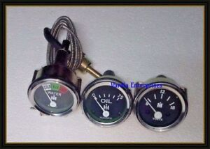 Temperature Amp Oil Gauge Set For Farmall Tractor Ih H M w4 9 T6 Ihc