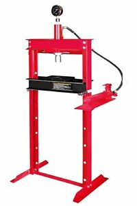 12 Ton Shop Press With Hand Pump Pressure Gauge H frame Hydraulic Equipment 34