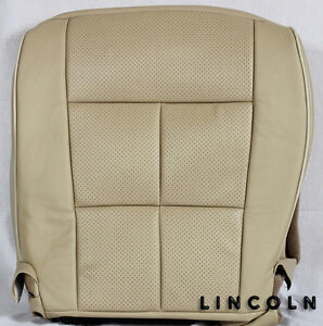 2007 2014 Lincoln Navigator driver Side Bottom Perforated Leather Seat Cover Tan