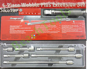 New Snap On 3 8 Drive 6 Piece Wobble Plus Ratchet Extension Set 206afxwp