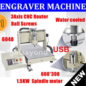 6040 Cnc Router Machine Usb 3 Axis Engraver Engraving Milling 3d Water cooled Us