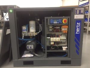 7 5 Hp Hertz Hbd5 Rotary Screw Air Compressor With Dryer And 120 Gallon Tank