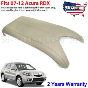 Fits 2007 2012 Acura Rdx Leather Center Console Lid Armrest Cover Skin Beige Tan