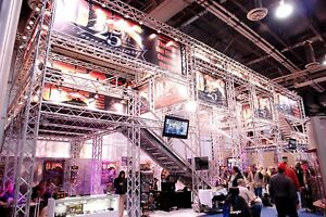 Trade Show Booth Trade Show Display Aluminum Space Truss 20x20 20x70 Adapts