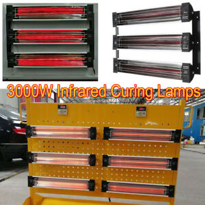 3kw Spray baking Booth Oven Infrared Paint Curing Heater Lamps Heating Lights