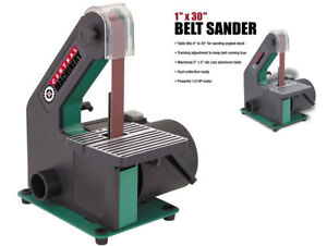 Belt Sander 1 X 30 In Bench Top Workshop Adjustable Tilting Table 1 3 Hp Motor
