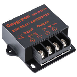 10pcs Dc Dc Converter Regulator Car Step Down 12v 24v To 5v 5 Amp 25w Us Ship
