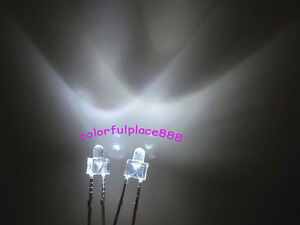 1000pcs New 2mm White Water Clear Round Top 12000mcd Led Bright Leds Light New