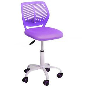Kids Desk Chair Mid Back Adjustable Office Rolling Purple Girl Gift Student New