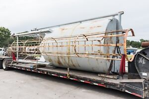Vertical Storage Tank For Dry Product 25 Ft Length height Cone 8 Ft Diam 8ft