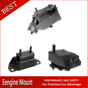 Westar auto Trans Engine Motor Mount Set 3x For 1984 Mustang V6 3 8l Coupe