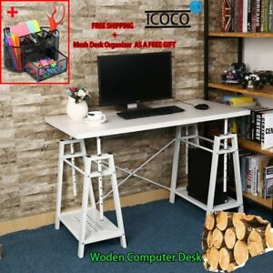 48 Adjustable Desktop Computer Desk Table Home Office Furniture Laptop Desk Blk