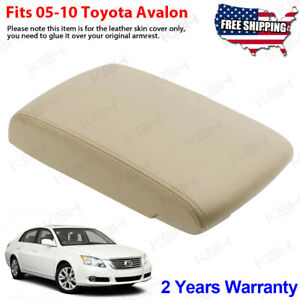 Fits 2005 2010 Toyota Avalon Leather Center Console Lid Armrest Cover Beige Tan