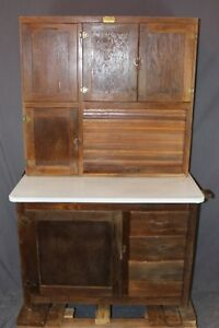 Ariel Oak Hoosier Cabinet W Flour Bin Tin Breadbox Drawer Local Pickup