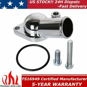 O ring Chrome Thermostat Housing Water Neck For Sbc Bbc Small Big Block Chevy Gm