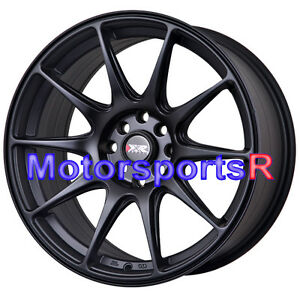 Xxr 527 Flat Black Wheels 17 X 7 5 40 Concave Rims 4x100 01 Acura Integra Gsr