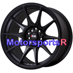 Xxr 527 18 X9 75 20 Flat Black Rims Wheels 5x114 3 Mitsubishi Evolution X Mr Fe
