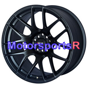 18 Xxr 530 Flat Black Concave Rims Staggered Wheels 5x4 5 04 Ford Mustang Cobra