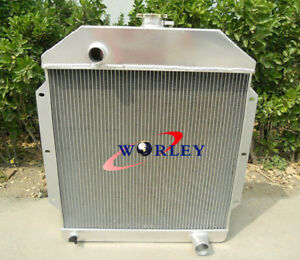 For Ford V8 Cars 1949 1953 49 50 51 52 53 Aluminum Coolant Radiator