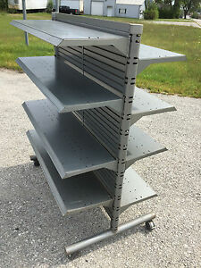 Heavy Steel Store Display Fixture Gondola Gray 61 h 51 l 31 w Local Pickup