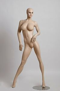 Realistic Female Mannequin Includes Wig Large Breasts Made Of Fiberglass lcy8