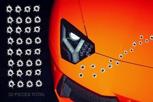 32 Bullet Hole Stickers Realistic Bullet Decal 1 Each Piece