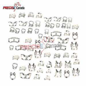 80 Endodontic Rubber Dam Clamps Of Different Sizes Dental Instrument