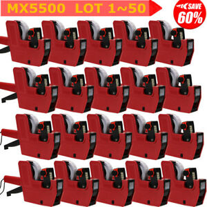 8 Digits Price Tag Gun 200 White With Red Lines Labels 1 Ink Mx 5500 Lot Us