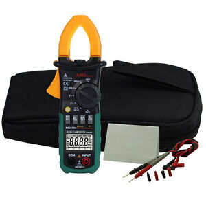 Ms2108a Digital Clamp Meter Multimeter Auto Ranging Ac Dc Current Volt Tester