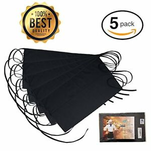 Black Waitress Apron 5 Pack With 3 Pockets 7 9x6 5 Commercial Grade 35