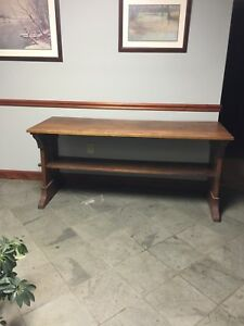 Stickley Style Arts And Crafts Trestle Table Desk Dining Table Sofa Table
