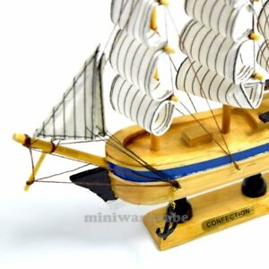 8 Inch Handmade Confection Sailing Ship Boat Model Nautical Collectable Decor