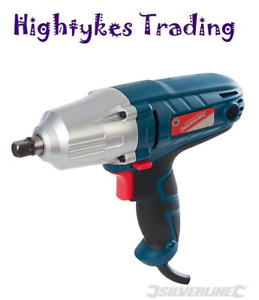 Impact Wrench Sockets Silverline 400w Electric 240v 1 2 Drive 593128
