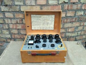 Vintage Laboratory Deflection Portable Potentiometer Test Set In Wooden Box Ussr