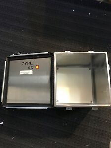Stainless Steel Enclosure Hinged 12x12x12 With Backplate Nema 4 Box