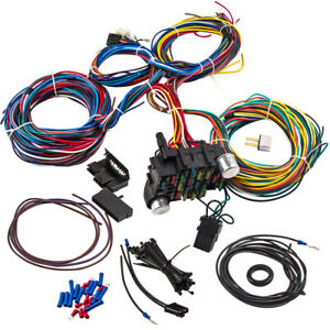 Wiring Harness 21 Circuit 17 Fuses Universal Hot Rod For Chevy Mopar Ford Kit
