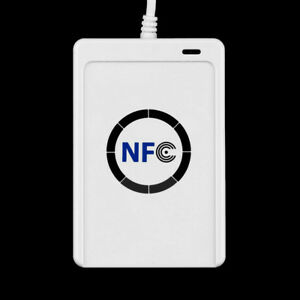 Built in Antenna Nfc Rfid Contactless Smart Reader Writer usb 5x Ic Cards Good