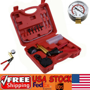 Brake Bleeder Vacuum Pump Tester Kit Gauge Auto Diagnostic Tool F Car Truck Suv