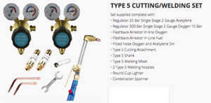 Parweld Oxygen Acetylene Type 5 Cutting And Welding Set Contractors E Kit