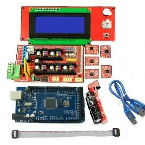 Lcd2004 2560 R3 Control A4988 Driver Ramps 1 4 Control Board Kit For 3d Printer