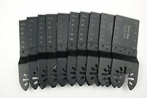 Oscillating Multi Tool Blades For Cutting Wood And Metal Pack Of 10 Pc Bi metal