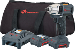 1 Ingersoll Rand W1130 K2 3 8 Cordless Impact 12 Volt Kit With 2 Batteries