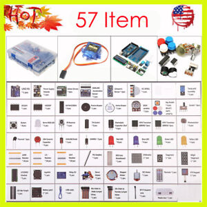 Ultimate Starter Learning Kit For Arduino Uno R3 Lcd1602 Servo Motor 57items